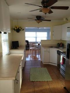 Water view is awesome while you cook in this well equipped kitchen, enjoyable