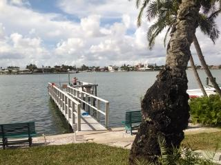 View of fishing dock from patio