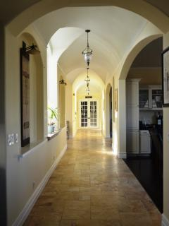 Hallway and arches