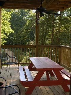 Private Deck outside Queen Bedroom & Family Room on Lower Level