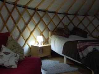 Yurts are lit by solar powered lights