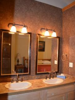 Double sinks give plenty of room to get ready!