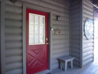 Front entry door with keyless entry