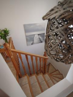 The stairs, child gates can be fitted when required