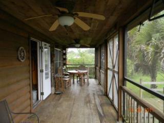 Central Florida Log Cabin with 5 Stall Horse Barn, Okeechobee