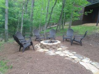Roast some marshmallows over a fire in Buck Valley\'s fire pit