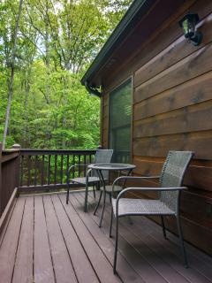 Master bedroom private deck