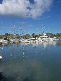 Green Cay Marina just a short walk from villa.  Our private boat is docked here.