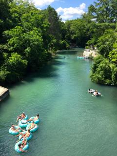 Comal River across the street from the Comal Inn with a public access