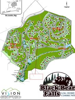 Black Bear Falls - Cabin Community Map