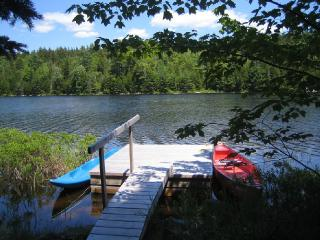 Canoe on Hodgdon Pond, Seal Cove Cabin, Southwest Harbor