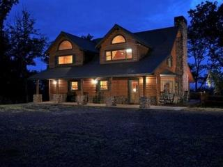Sky High Sanctuary Custom Canadian Log Home, Ellijay