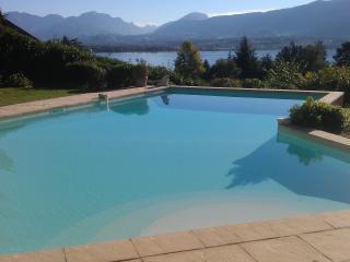 Le Clos Lamartine piscine vue lac et montagne, Tresserve