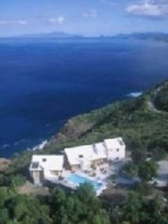 Fairwinds Villa with BVI and St John in the background.