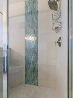 Shower in master bathroom.