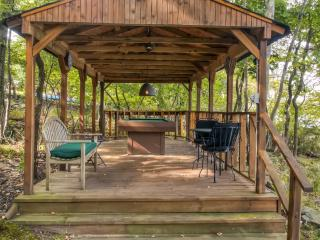 This cabin provides the best of outdoor living! Play pool outdoors!