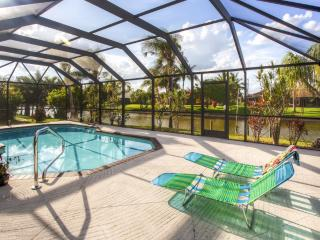 Relaxing 3BR Cape Coral Home w/Private Pool, Dock, Lanai & Wifi - Beautiful Canalfront Location! Discounted Summer Rates!