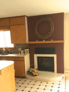 Kitchen/Dining Area Fireplace