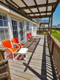 Unwind outside on the spacious private deck and take in the incredible scenery!