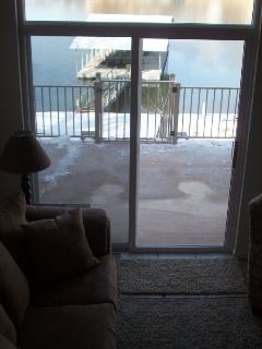 View of dock from living room