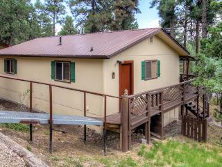 New Listing! Comfortable 2BR Ruidoso Cabin w/Large Covered Deck, Wifi, Fireplace, BBQ Grill, & More - Easy Access to Golf & Hiking!