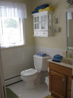 upstairs full bathroom with shower