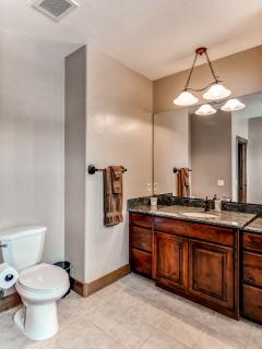The en-suite master bathroom is fit for royalty!