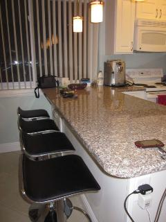 Large Unit -Kitchen Barr  (Granite Top) Seating Area