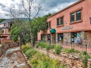 Unique & Calming 2BR Condo in Historic Manitou Springs w/Wifi, Private Covered Balcony & Tranquil Creek Views - Near 100+ Shops, Restaurants, Pikes Peak & So Much More!