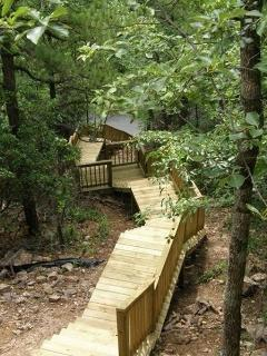 Stairs from Cliffhanger to public road