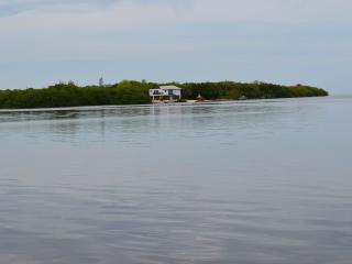 view from gulfside, completely private and secluded.