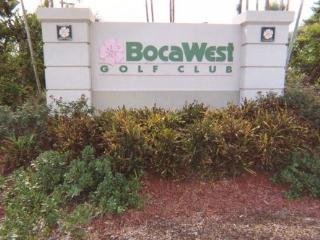 Boca West with golf course view in Palm Beach , FL