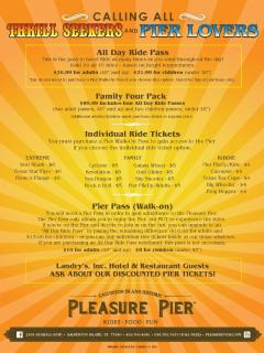 NOW OPEN!  Galveston Island Historic Pleasure Pier