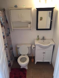 Bathroom: Full size bathtub / shower