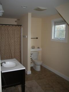 Spacious master en suite bathroom with stand up shower