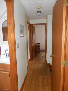 2nd floor hallway. Beautiful pine floors!