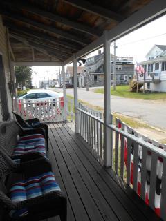 Wrap around porch, street side.
