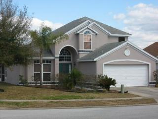 Spacious two story home sits in a large corner lot