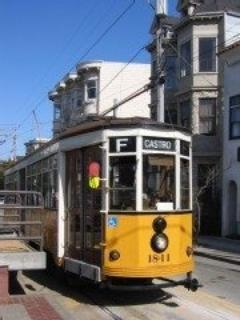 One block away: The historic trolley direct to Fisherman's Wharf for $2.