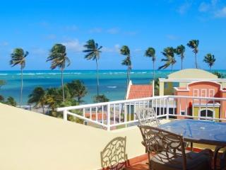 True Beachfront Penthouse with Ocean Surf Sounds, Loiza