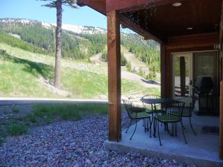 Luxury Ski-in Ground-level Condo 35 min to Glacier Park!  Hot tub, Patio, Views!, Whitefish