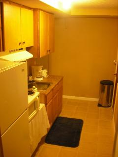 Kitchenette in basement