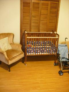 Crib and Stroller available