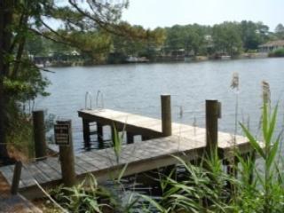 Neighborhood dock on community lake