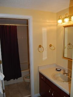 Master Bath with Tile Floor
