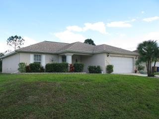 3 Bedroom Home with Enclosed Heated Pool, Lehigh Acres