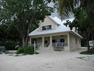bayfront beach house with sandy beach