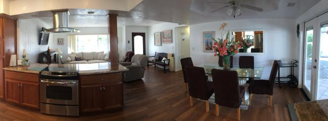 Pano of Open floor plan - Kitchen, Dinning and Living Room.