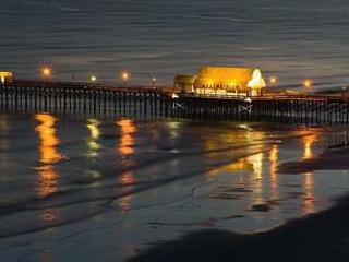Pier on the Beach at Night