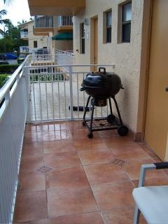 Balcony off the Kitchen with BBQ
